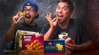 Americans Eat Indian Food | Indian Sweets