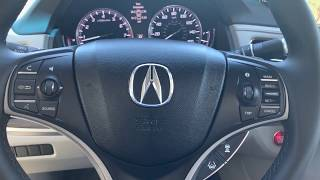 Different views in the Back up camera, Acura RLX 2017. RA