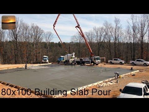 Pouring a 80 x 100 Metal Building Slab - UCDywFDjEL1nUi13cb6mLn5w
