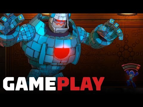 Mega Man 11 Demo Gameplay on Switch - Block Man Stage - UCKy1dAqELo0zrOtPkf0eTMw