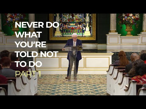 Never Do What You're Told Not To Do, Part 1  Jesse Duplantis