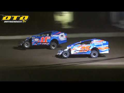 Ransomville Speedway | DIRTcar 358-Modified Feature Highlights | 8/13/21 - dirt track racing video image