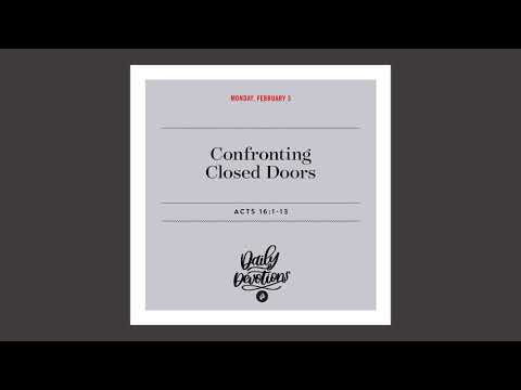 Confronting Closed Doors - Daily Devotion