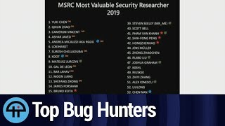 Microsoft ranks the industry's top bug hunters