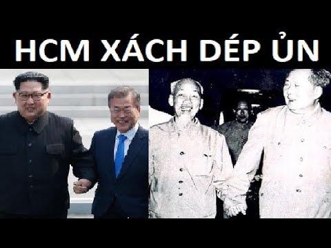 HCM xách dép cho thằng cháu Kim Nhật Thành