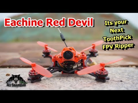 Eachine Red Devil Toothpick FPV Racing Drone Very Fast Drone - UCsFctXdFnbeoKpLefdEloEQ