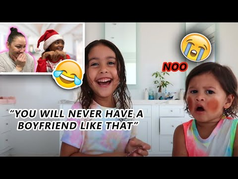 Reacting To The ACE Family Videos *Elle and Laylay SUPER FUNNY* The Nev Fam | Vlogmas