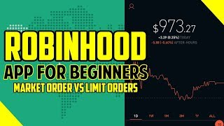 (2018) RobinHood App For Beginners - Market Order Vs Limit Orders | MoviePass Shout Out