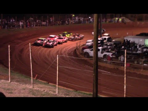 Opening night for the Stock Eight Cylinders - dirt track racing video image