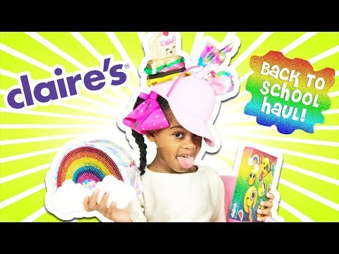 Back To School Supplies and Toy Haul 2017! Claire's Haul - UC8_gvwEqj_UnE7e3uDaMtig