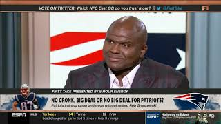 First Take | No Gronkowski, Big Deal or NO Big Deal for Patriots? | Marcus Spears  ANALYZES