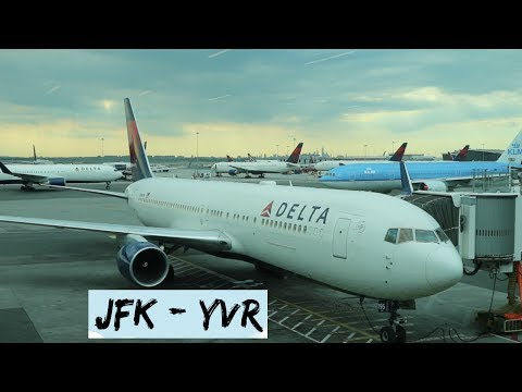 NEW YORK TO VANCOUVER | Delta Air Lines | Flight Vlog