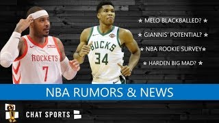NBA Rumors: Carmelo Anthony Blackballed? Giannis Antetokounmpo Potential & Marcin Gortat To Lakers?