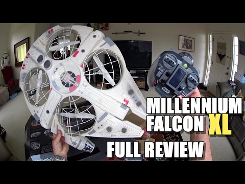 Star Wars MILLENNIUM FALCON XL Drone - Full Review - [Unbox, Inspection, Flight Test, Pros & Cons] - UCVQWy-DTLpRqnuA17WZkjRQ