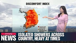 Isolated showers across country, heavy at times_071619