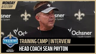 Sean Payton After Day 18 of Saints Training Camp | New Orleans Saints