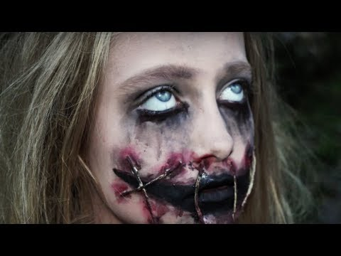 Creepy Girl With Ripped Mouth Halloween Makeup Tutorial / Natalie Gill - UCDmffgtQtl7m7QvCuNaiqBA