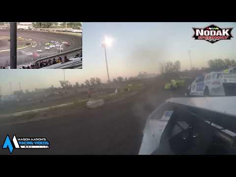 #21 Taylor Stenvold IMCA Sport Mod On-Board @ Nodak (8/29/21) - dirt track racing video image