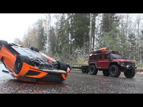 Спасательная операция перевернувшейся Honda NSX (Tamiya и Traxxas TRX-4) - UCX2-frpuBe3e99K7lDQxT7Q