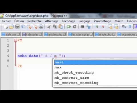 دورة PHP : الدرس 25 (دالة الوقت و التاريخ Date)