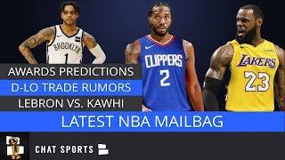 D'Angelo Russell Trade Rumors, LeBron James vs. Kawhi Leonard, 2020 Awards Predictions | NBA Mailbag