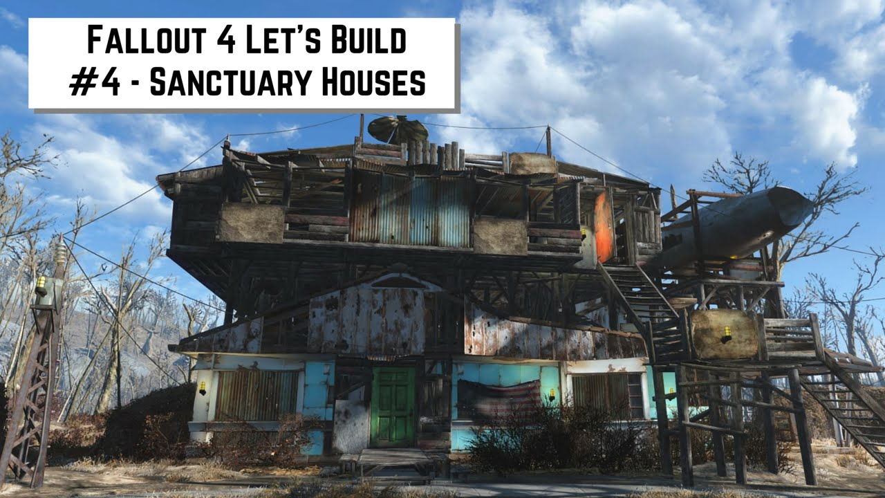 Fallout 4 Let S Build 4 Sanctuary Houses Racer Lt