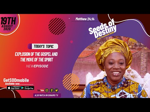 Dr Becky Paul-Enenche - SEEDS OF DESTINY - WEDNESDAY AUGUST 19, 2020