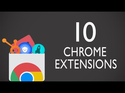 Top 10 Useful Chrome Extensions You Should Try - UCvpfclapgcuJo0M_x65pfRw