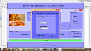 Restaurant Management System Project Java Oracle | Desktop Based