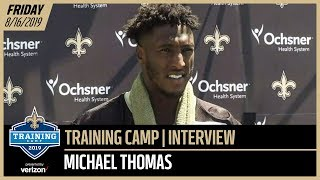 Michael Thomas from Day 2 of Saints-Chargers Joint Practices | New Orleans Saints