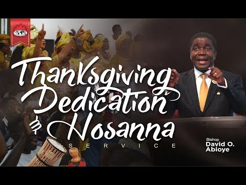 THANKSGIVING for 2018 (1st Service) December 30, 2018