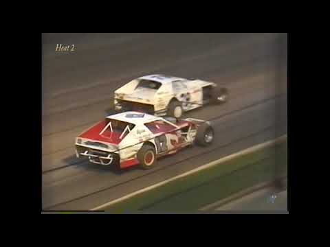 Full race from the IMCA Modified division at Hartford Speedway Park in MI July 3, 2000. Curt Spalding takes the feature win. - dirt track racing video image