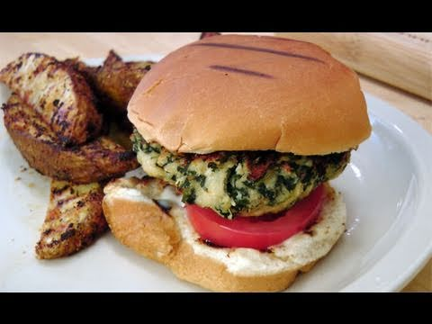 Spinach Turkey Burgers - Recipe by Laura Vitale - Laura in the Kitchen Episode 119 - UCNbngWUqL2eqRw12yAwcICg