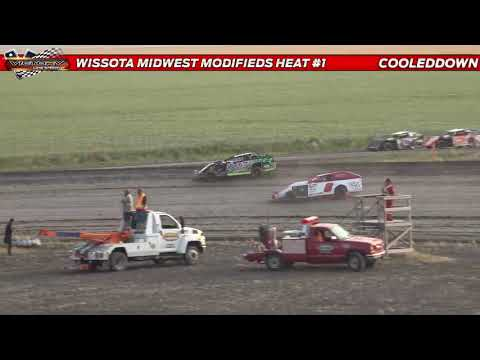 www.cooleddown.tv LIVE LOOK IN $1000 to win WISSOTA Midwest Modifieds Special From Victory Lane - dirt track racing video image