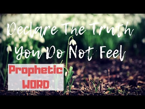 PROPHETIC WORD (& Appeal): Declare The Truth You Do Not Feel  PROPHETIC THINGS