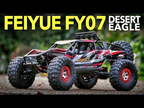 4wd Feiyue FY07 Desert Eagle 1/12 Scale RC Rock Racer - Unboxing, Speed Test & Bashing - UCiqTEhDiWz1eb7exfWiy5TA