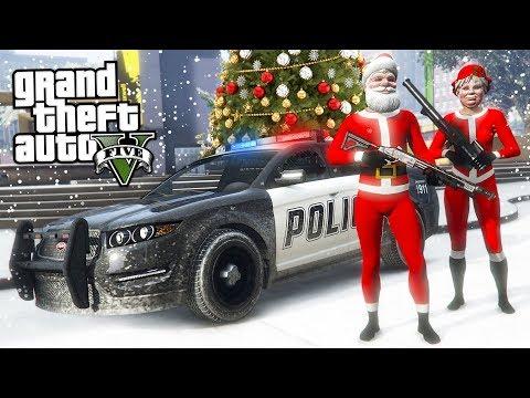 GTA 5  - COPS AND ROBBERS!! (GTA 5 Christmas DLC Update) - UC2wKfjlioOCLP4xQMOWNcgg