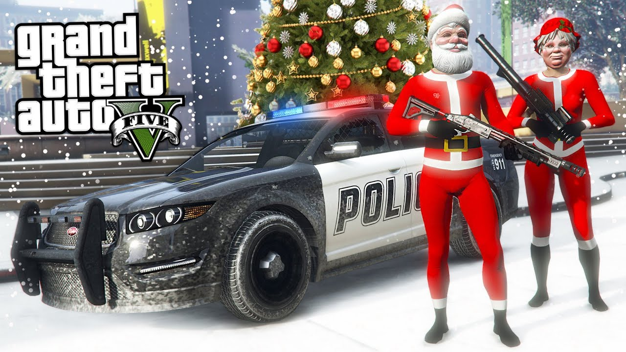 Gta 5 Christmas.Gta 5 Cops And Robbers Gta 5 Christmas Dlc Update