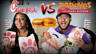 LET'S SETTLE THIS! | Chic Fil A VS Popeyes Chicken Sandwiches!!