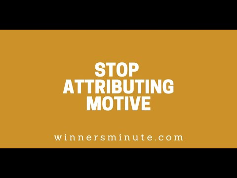 Stop Attributing Motive // The Winner's Minute With Mac Hammond