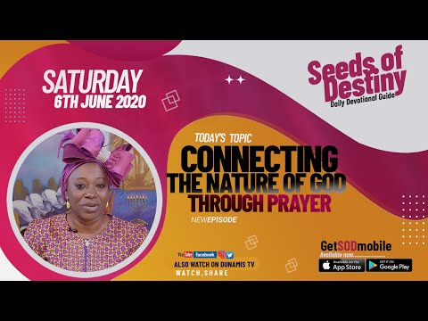 Dr Becky Paul-Enenche - SEEDS OF DESTINY  SATURDAY JUNE 6, 2020