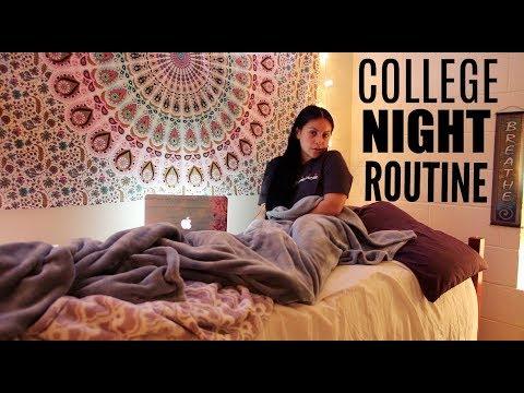 COLLEGE NIGHT ROUTINE: FALL 2017 | JuicyJas - UCqTR5f7YkGro3cPv23SqcqQ