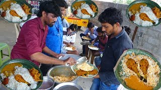It's a Lunch Time in Hyderabad   Cheapest Roadside Unlimited Meals  Indian Street food   #Streetfood