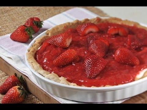 Pay de fresas con queso crema - Strawberry Pie with Cream Cheese - UCvg_5WAbGznrT5qMZjaXFGA