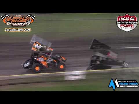 Buffalo River Speedway Minn-Kota Lightning Sprint A-Main (9/19/21) - dirt track racing video image
