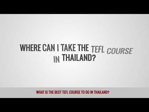 video about TEFL courses in Thailand