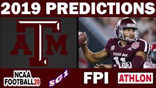 Texas A&M 2019 Football Predictions - Comparing Sources