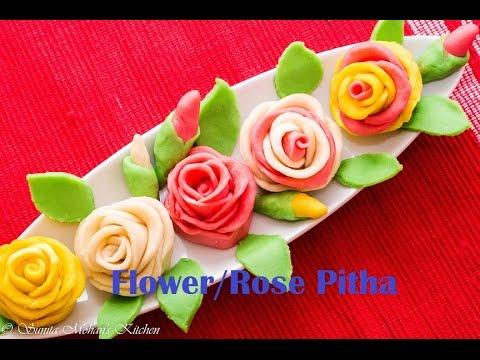 Flower Rose Pitha Recipe ( गुलाब फूल pitha), Bangladeshi Golap Pitha Recipe |Kids