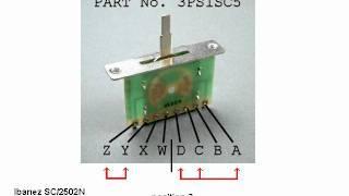 Basic Guitar Electronics XVI - Wiring of an Ibanez RG7321/RG320 on
