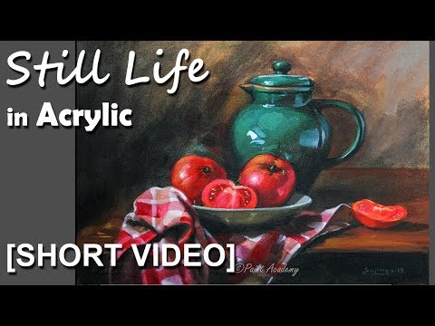 Realistic Still Life in Acrylic |  Episode-4 [SHORT VIDEO]